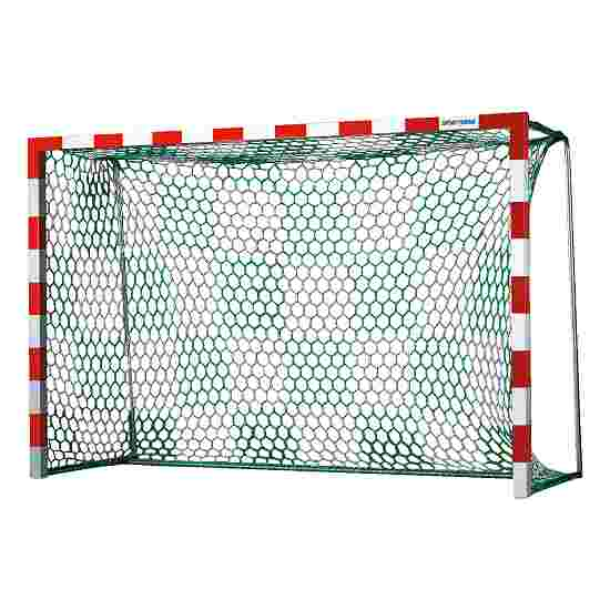 Handballtornetze mit Schachbrettmuster Weiss-Grün