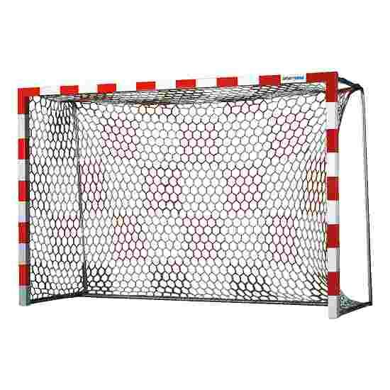 Handballtornetze mit Schachbrettmuster Weiss-Rot