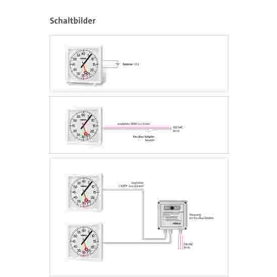 Horloge d'entraînement avec affichage minutes et secondes Fonctionnement sur piles 2x1,5 V, fournies