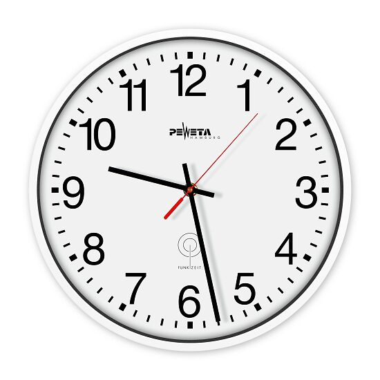 Horloge murale radiopilotée Peweta Cadran avec chiffres arabes