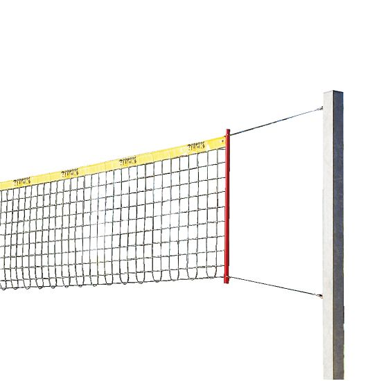 Installation de beach-volley Sport-Thieme® « Stable » Sans rembourrage de protection pour poteau, Filet sans revêtement