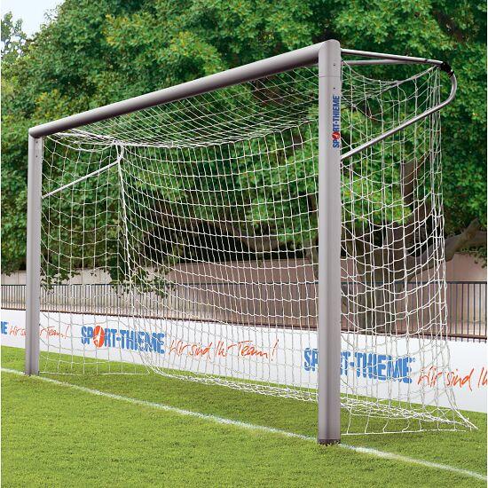 Jugendfussballtor 5x2 m, Ovalprofil, in Bodenhülsen stehend, mit verschweisster Gehrung