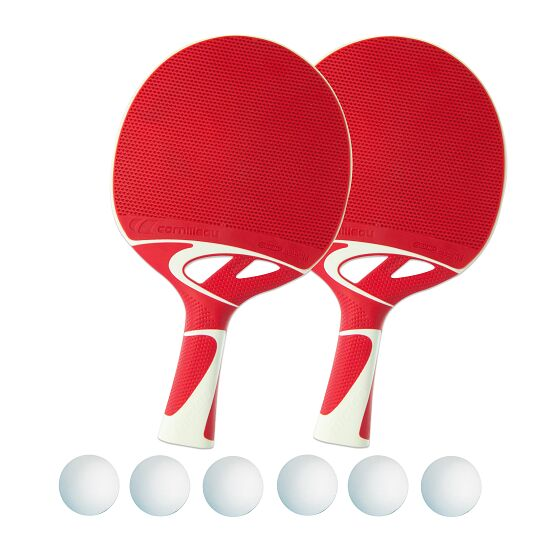 Kit de raquettes de tennis de table « Tacteo 50 » Balles blanches