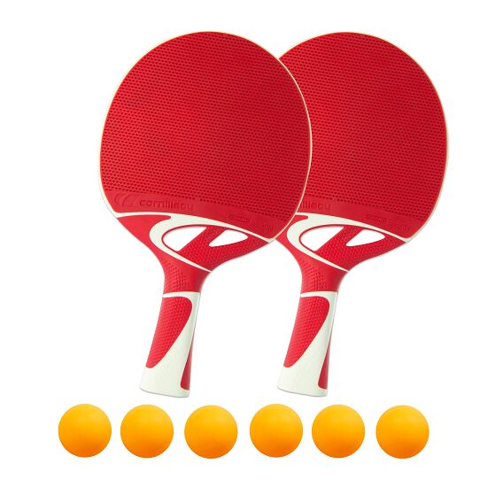 Kit de raquettes de tennis de table « Tacteo 50 » Balles orange