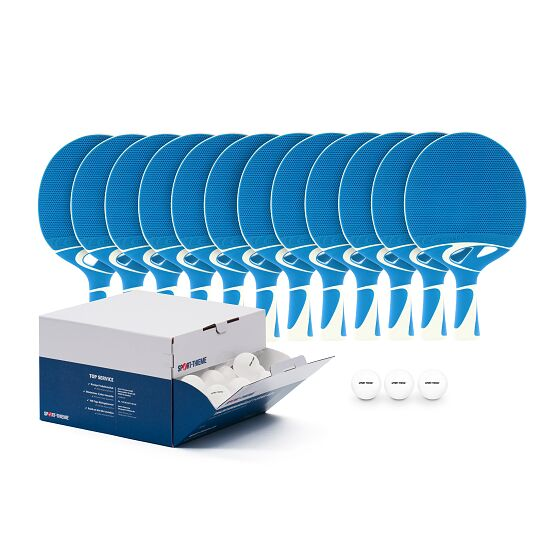 Kit de raquettes de tennis de table Cornilleau® « Tacteo 30 Outdoor » Balles blanches