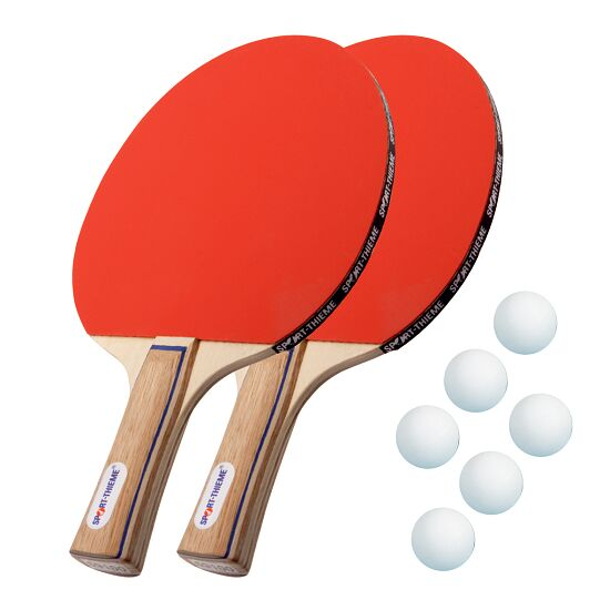 Kit de raquettes de tennis de table Sport-Thieme® « Paris » Balles blanches