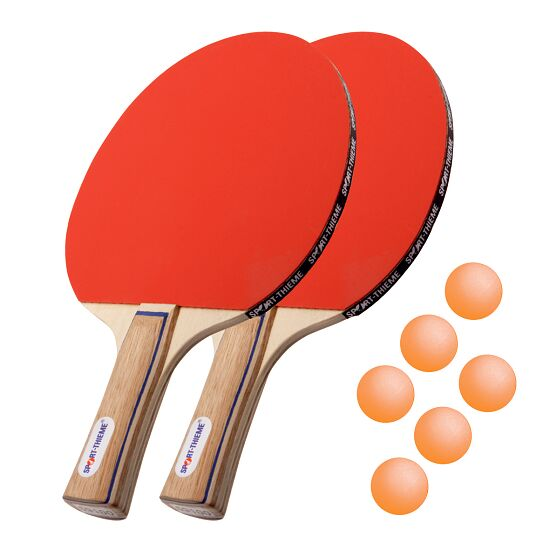 Kit de raquettes de tennis de table Sport-Thieme® « Paris » Balles orange