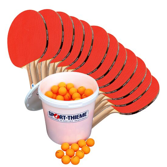 Kit de tennis de table Sport-Thieme « Rome » – Spécial École Balles orange