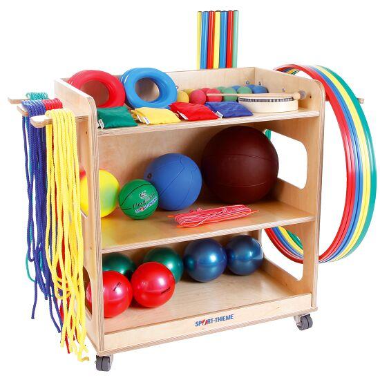 Kit Sport-Thieme® pour jardins d'enfants et maternelles Avec chariot de rangement