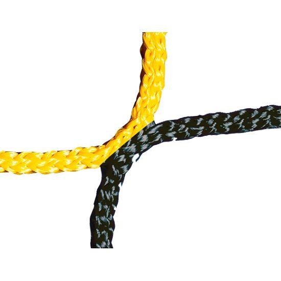 Knotenloses Herrenfussballtornetz 750x250 cm Schwarz-Gelb