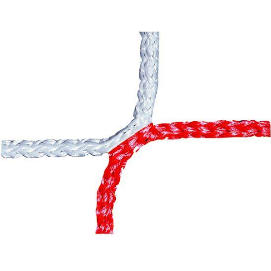 Knotenloses Herrenfussballtornetz 750x250 cm Rot-Weiss