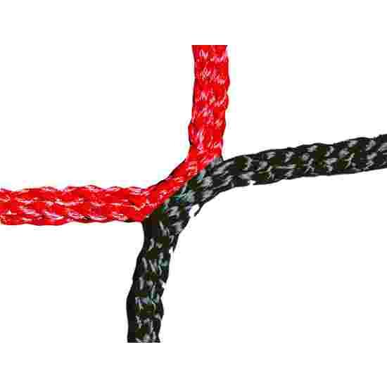 Knotenloses Herrenfussballtornetz Schwarz-Rot
