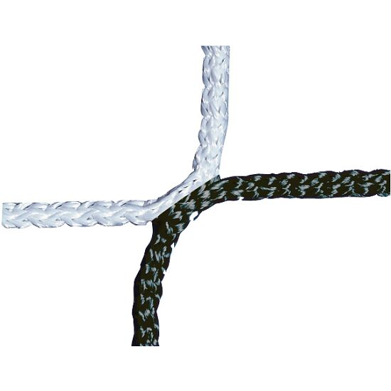Knotenloses Herrenfussballtornetz Schwarz-Weiss