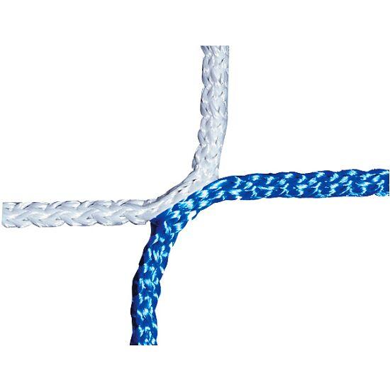 Knotenloses Jugenfussballtornetz 515x205 cm Blau-Weiss
