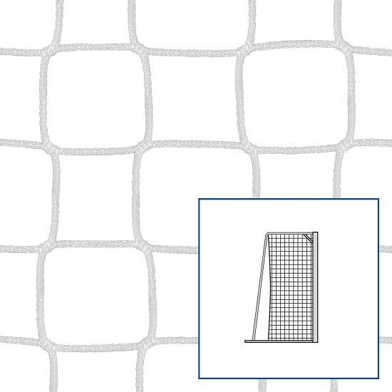 Knotenloses Kleinfeld-/Handballtornetz Weiss