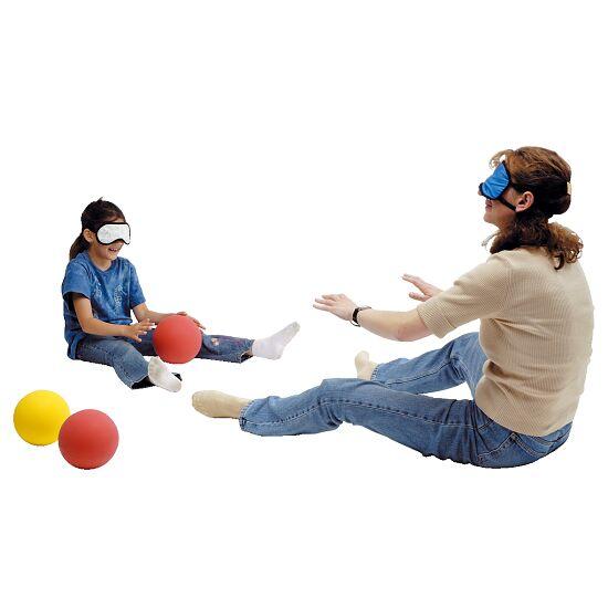 Masque opaque Pour enfants : 18x8,5 cm, bleu-blanc à rayures