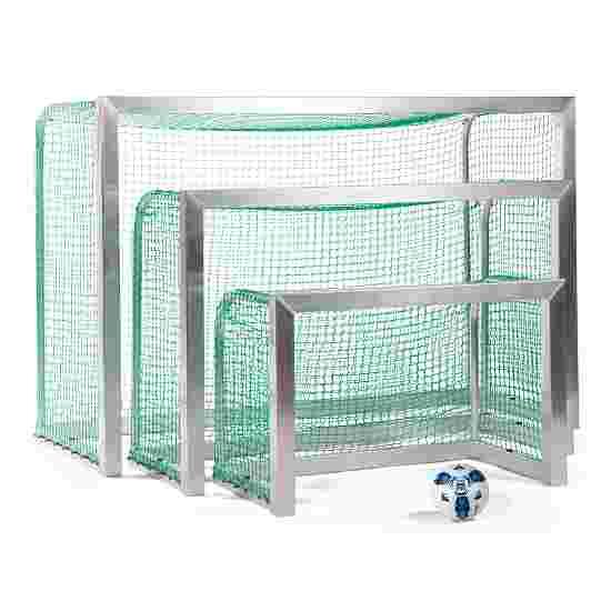 Minibut d'entraînement Sport-Thieme entièrement soudé 1,20x0,80 m, profondeur 0,70 m, Filet inclus, vert (mailles 4,5 cm)