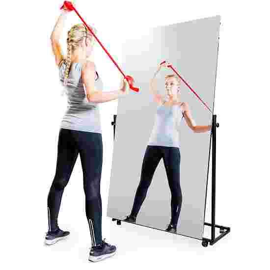 Miroir de correction léger roulant 1 pce., basculant, 175x100 cm (HxL)