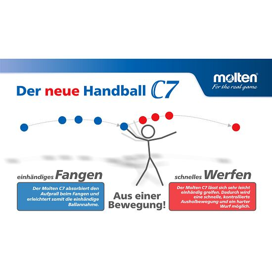 "Molten Handball ""C7 - HC3500"" Grösse 2"