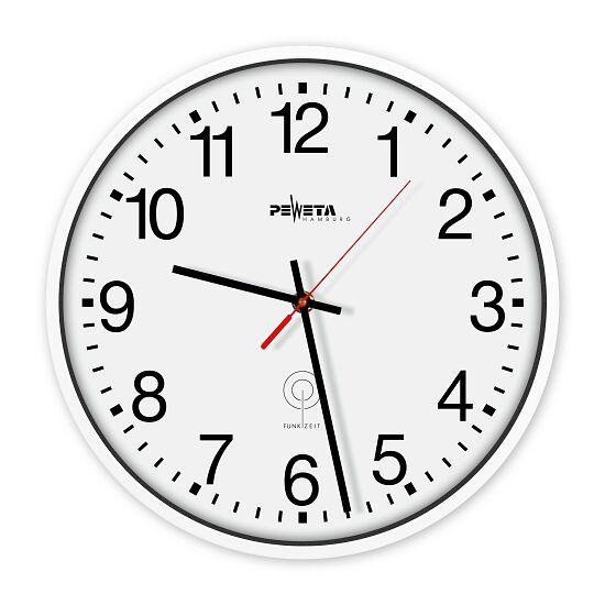Peweta® Funkwanduhr Zifferblatt arabische Zahlen