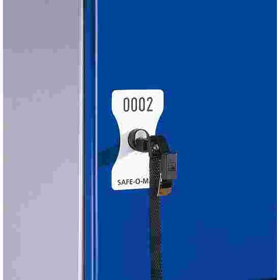 Plaque numérotée pour serrure à consigne Safe-O-Mat