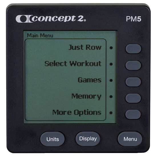 Rameur Concept2® « Modèle D » avec écran PM5 Noir