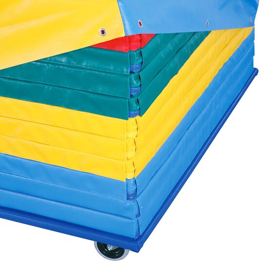 Reivo Lot de tapis de gymnastique « Safety » avec chariot de transport