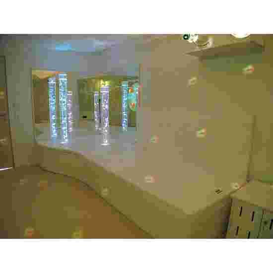 Rompa Musikwasserbett 140x200x50 cm hoch, Mit 4 Pulsgebern