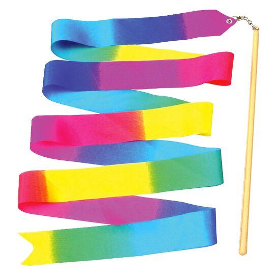 Ruban de gymnastique arc-en-ciel avec baguette 2 m