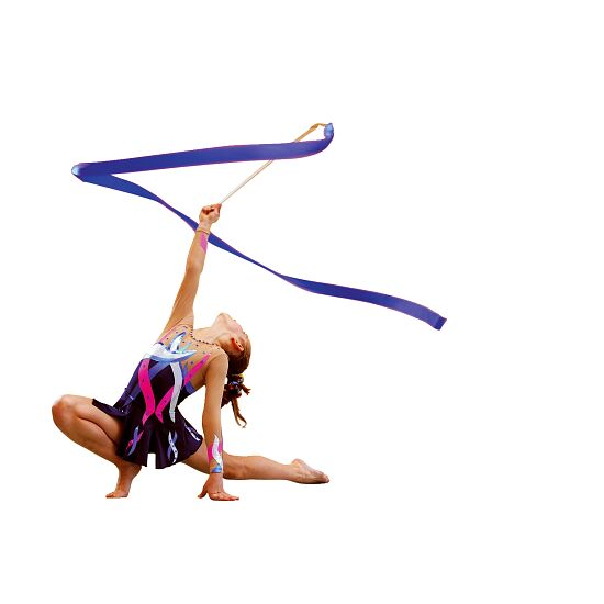 Ruban de gymnastique Sport-Thieme Compétition, 6 m de long, Bleu