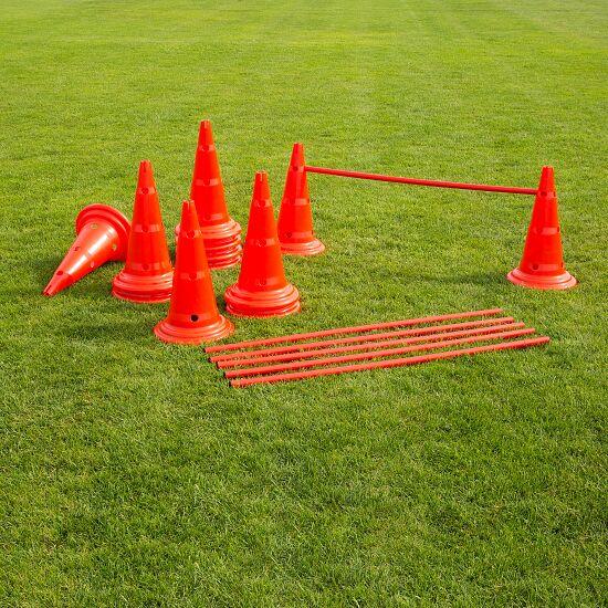 Set Kegel-Hürden 50 cm Kegel, Rot