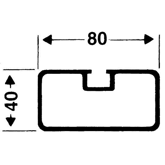 Sicherheits-Verankerungs-System 80x40 mm Rechteckprofil 80x40 mm