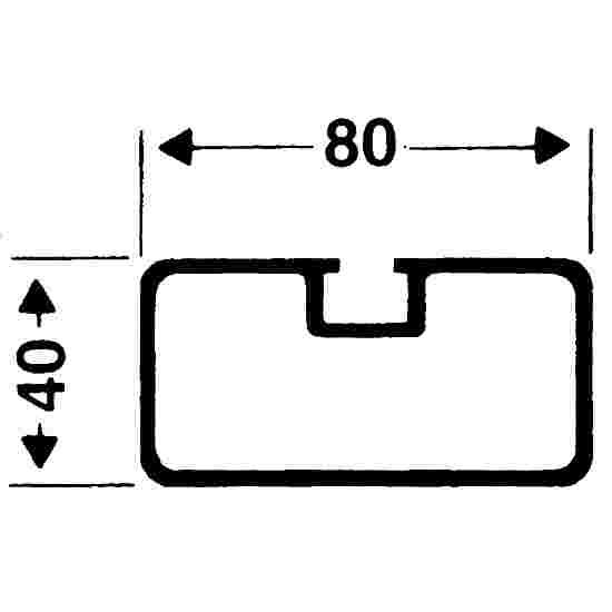 Sicherheits-Verankerungs-System Rechteckprofil 80x40 mm