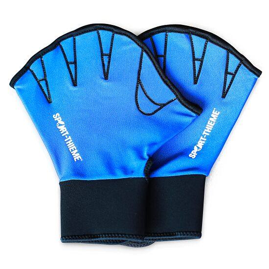 Sport-Thieme® Aqua-Fitness-Handschuhe, offen L, Blau