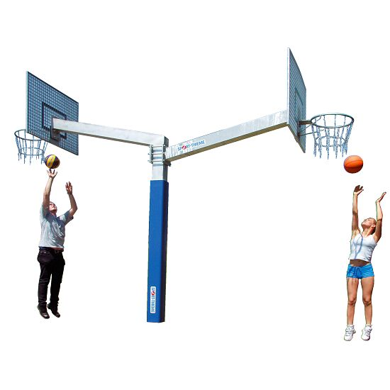 "Sport-Thieme Basketballanlage  ""Fair Play Duo"" Korb ""Outdoor"", Zielbrett: Aluminium"