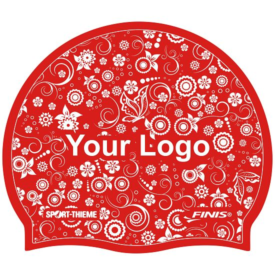 Sport-Thieme® Bedruckte Schwimmkappe Latex Rot, 1-seitig