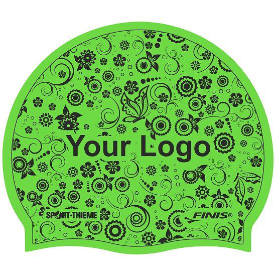 Sport-Thieme® Bedruckte Schwimmkappe Latex Grün, 1-seitig