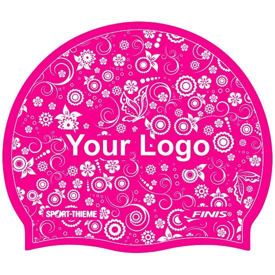 Sport-Thieme® Bedruckte Schwimmkappe Latex Pink, 1-seitig