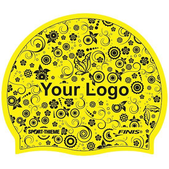 Sport-Thieme® Bedruckte Schwimmkappe Latex Gelb, Beidseitig