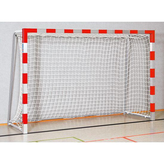 Sport-Thieme® But de handball en salle 3x2 m, avec fourreaux Angles d'assemblage vissés, Rouge-argent