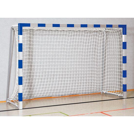 Sport-Thieme® But de handball en salle 3x2 m, avec fourreaux Angles d'assemblage vissés, Bleu-argent