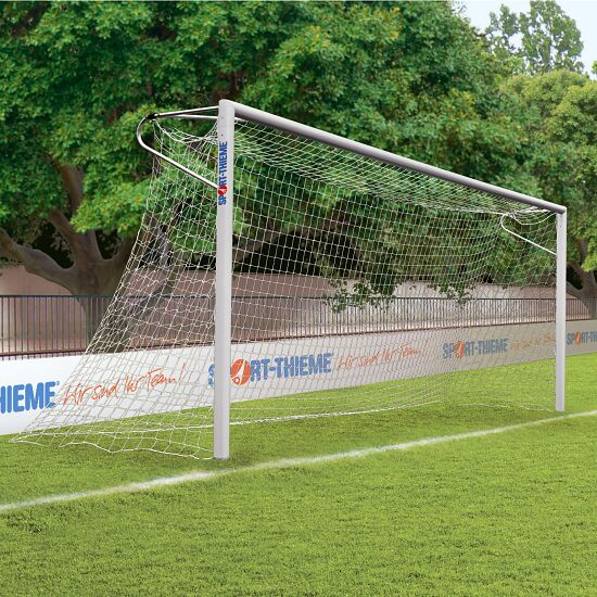 Sport-Thieme But en aluminium, 7,32x2,44 m, coins soudés, avec fixation par fourreaux Rail de fixation de filet