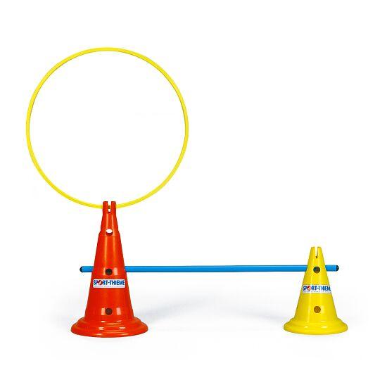 Sport-Thieme Cône multifonction Jaune, 30 cm, 8 trous