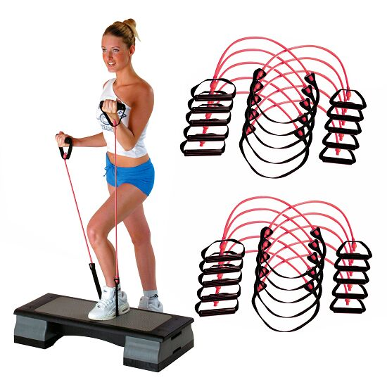 Sport-Thieme® Fitness-Step-Tube 10er Sets Pink = mittel