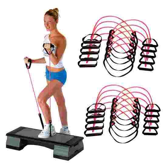 Sport-Thieme Fitness-Step-Tube 10er Sets Pink, mittel