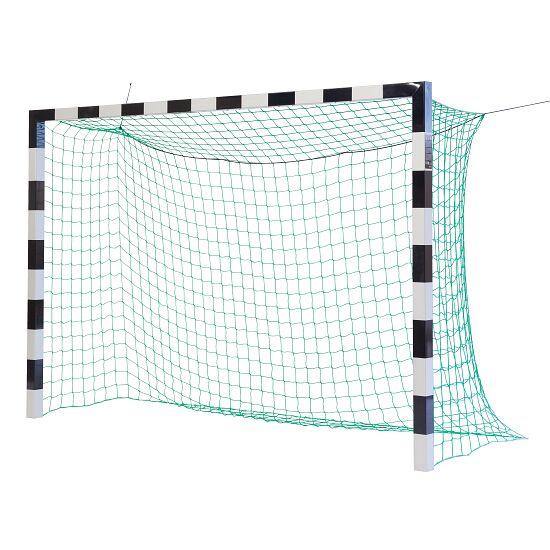 Sport-Thieme Hallenfussballtor 3x2 m, in Bodenhülsen stehend mit Eckverbindung Ohne Netzbügel, Schwarz-Silber