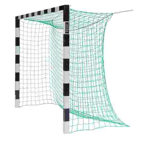 Sport-Thieme Hallenfussballtor 3x2 m, in Bodenhülsen stehend mit Premium-Stahl-Eckverbindung Ohne Netzbügel, Schwarz-Silber