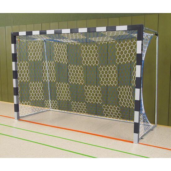 Sport-Thieme Hallenhandballtor  3x2 m, frei stehend mit feststehenden Netzbügeln Verschweisste Eckverbindungen, Schwarz-Silber