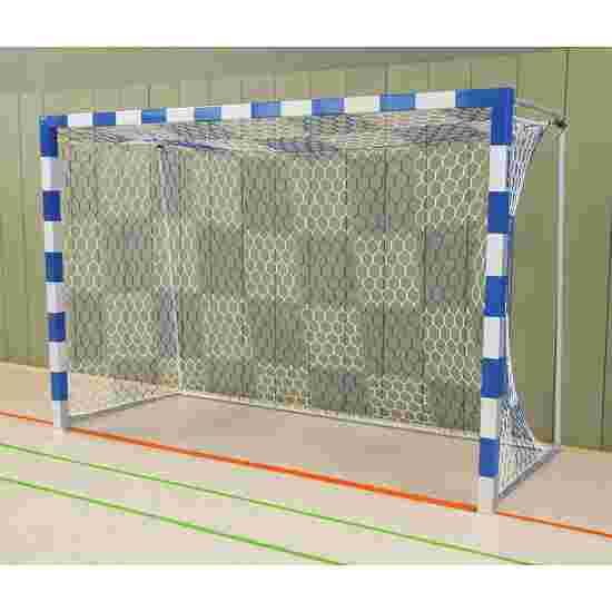 Sport-Thieme Hallenhandballtor  3x2 m, frei stehend mit feststehenden Netzbügeln Verschweisste Eckverbindungen, Blau-Silber