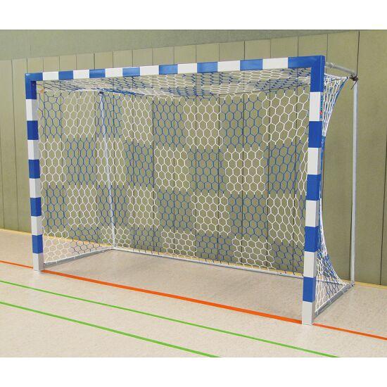 Sport-Thieme® Hallenhandballtor 3x2 m, frei stehend Verschraubte Eckverbindungen, Blau-Silber
